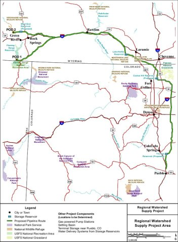 Proposed Flaming Gorge pipeline