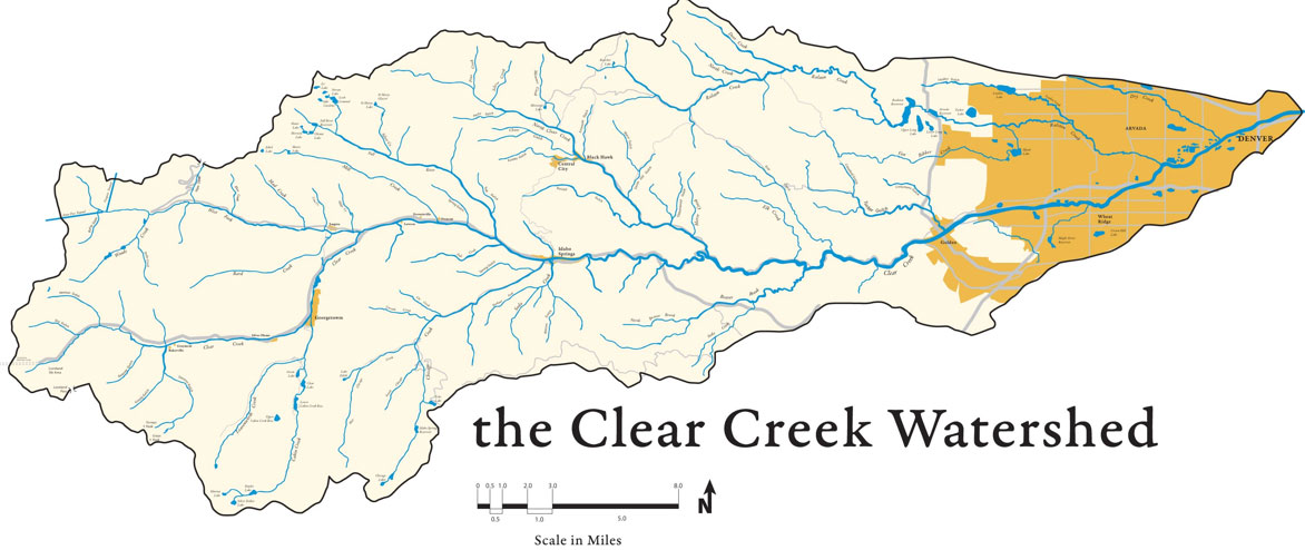 Clear Creek Watershed | Coyote Gulch on map of lone tree co, map of grand lake co, map of greenwood village co, map of parker co, map of las animas co, map of aspen co, map of idaho springs co, map of rocky mountain national park co, map of glenwood springs co, map of winter park co, map of brighton co, map of littleton co, map of northglenn co, map of wheat ridge co, map of canon city co, map of steamboat springs co, map of central city co, map of silver plume co, map of front range co, map of golden co,