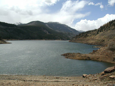Beaver Creek Reservoir Draining