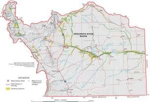 Arkansas River Basin -- Graphic via the Colorado Geological Survey