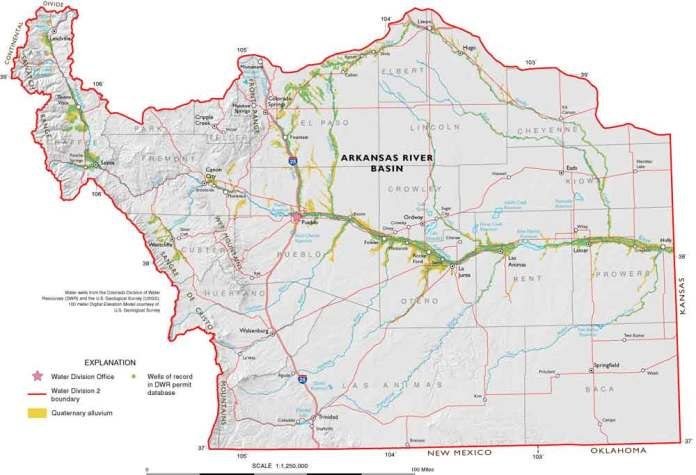 Arkansas River Basin -- Graphic via the Colorado Geological Survey