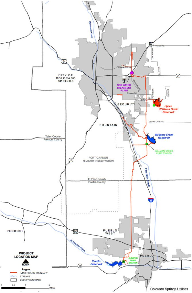 Colorado Springs Utilities Has Acquired Most Of The Land Access - Map of southern colorado