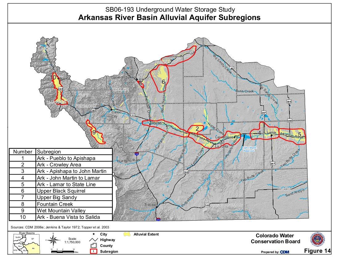Colorado Arkansas River Basin Map