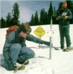 Manual collection of snowpack data