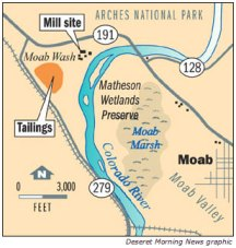 Moab tailings cleanup site