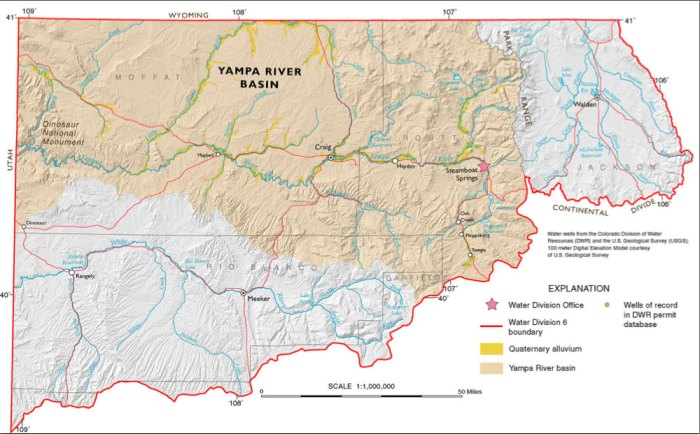 Yampa/White/Green/North Platte river basins via the Colorado Geological Survey