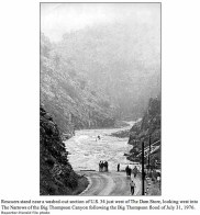 Looking west into the narrows after the Big Thompson Flood July 31, 1976
