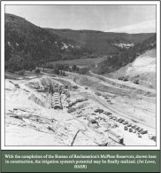 Mcphee Reservoir construction
