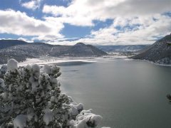 Ridgway Reservoir during winter