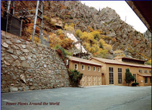 Shoshone hydroelectric generation plant Glenwood Canyon via the Colorado River District