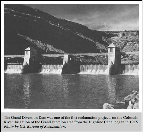 The Grand Valley Diversion Dam