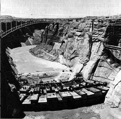 Glen Canyon Dam Construction