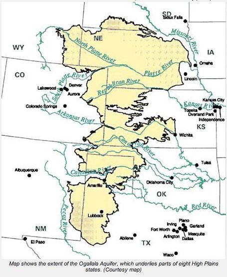 Ogallala aquifer boundaries