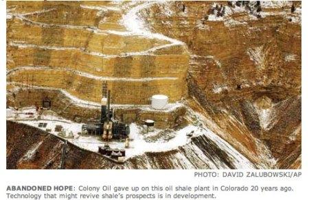 Colony Oil Shale Project Exxon -- Photo / Associated Pres
