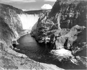 Boulder Dam photo credit Ansel Adams circa 1942