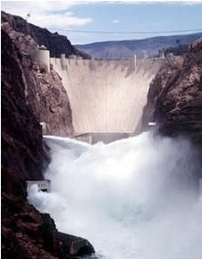 Hoover dam spilling