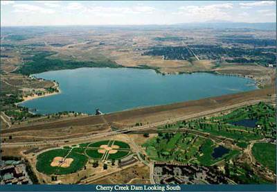 Cherry Creek Dam looking south