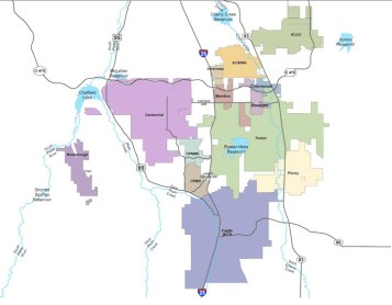 South Metro Water Supply Authority boundaries