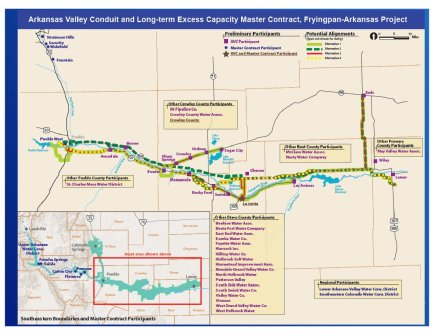 Preferred route for the Arkansas Valley Conduit via Reclamation