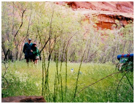 John and Mrs. Gulch in Coyote Gulch May 2000