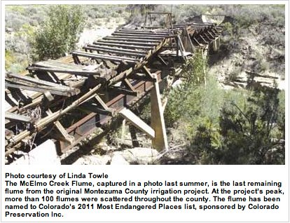 McElmo Creek Flume via the Cortez Journal