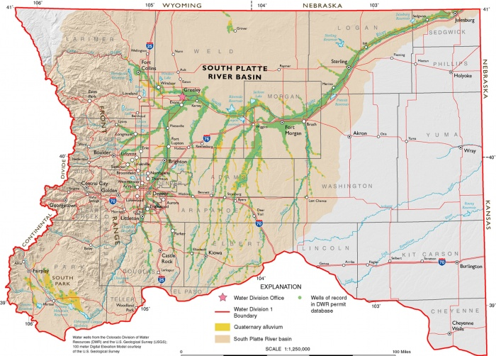 South Platte River Basin via the Colorado Geological Survey
