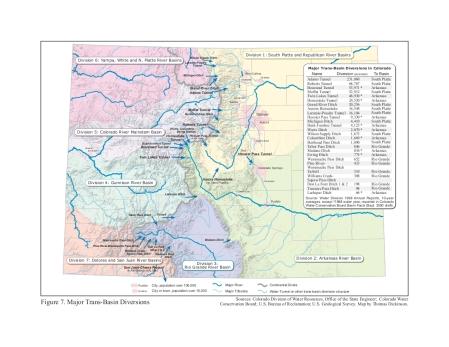 Colorado transmountain diversions via the University of Colorado