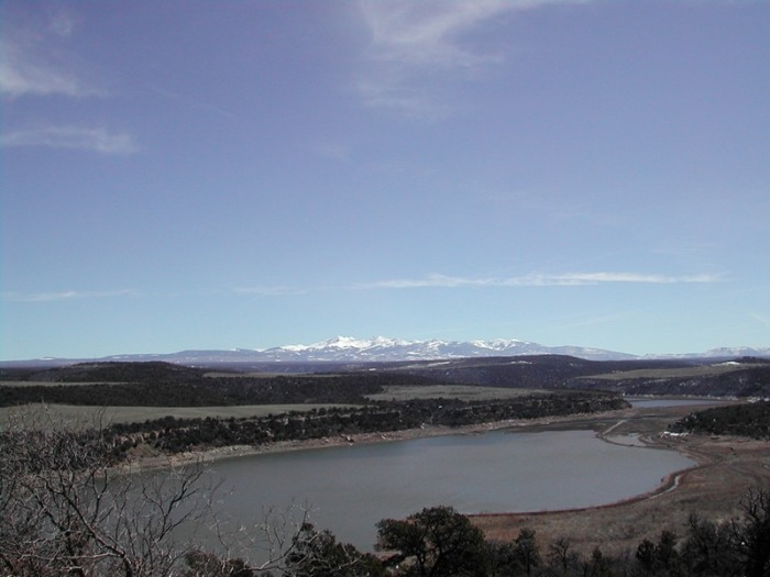 Western San Juans with McPhee Reservoir in the foreground