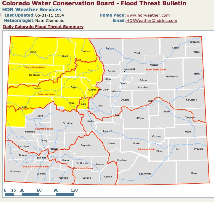Denver News Flooding: Runoff News: The Monster Snowpack Is Starting To Come Off