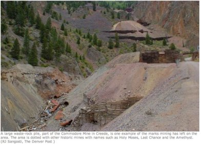 Commodore waste rock superfund site Creede