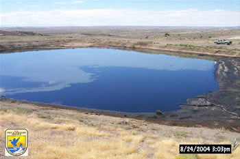 Oil and gas evaporation pond
