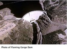 Flaming Gorge Dam. Photo credit: USBR