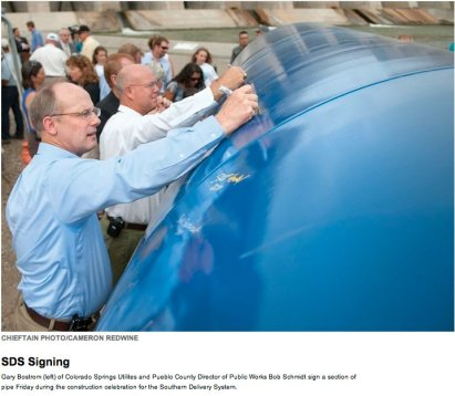Southern Delivery System construction celebration August 19, 2011 via The Pueblo Chieftain