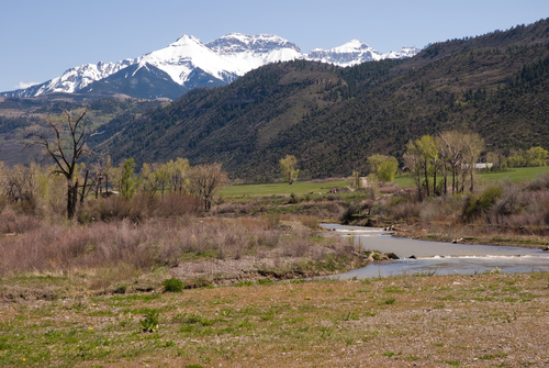 Uncompahgre River Valley looking south