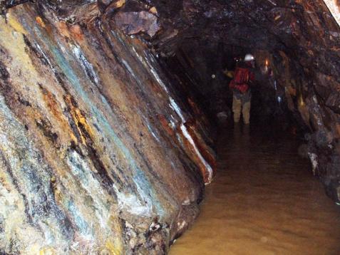 Fault vein in Standard Mine Gunnison County