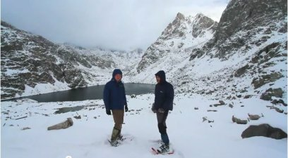 Will Stauffer-Norris and Zak Podmor at the headwaters of the Green River October 2011.