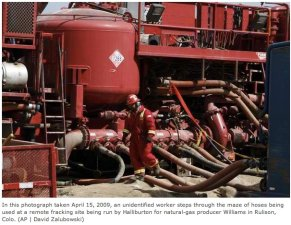 Williams Energy hydraulic fracturing operation near Rulison via The Denver Post