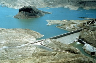 Elephant Butte Reservoir back in the day nearly full