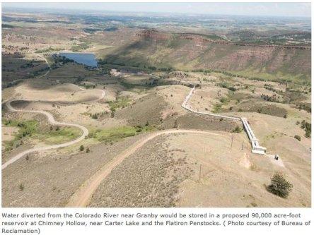 Chimney Hollow Reservoir site via the Bureau of Reclamation