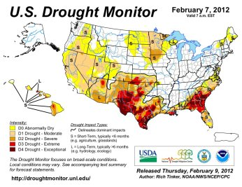 US Drought Monitor February 7, 2012