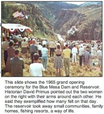 Blue Mesa groundbreaking ceremony 1965
