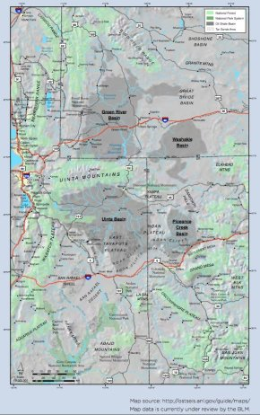 Green River Basin oil shale deposits via the Bureau of Land Management