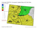 Statewide snowpack map March 5 2013 via the NRCS