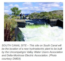 South Canal hydroelectric site -- via The Watch