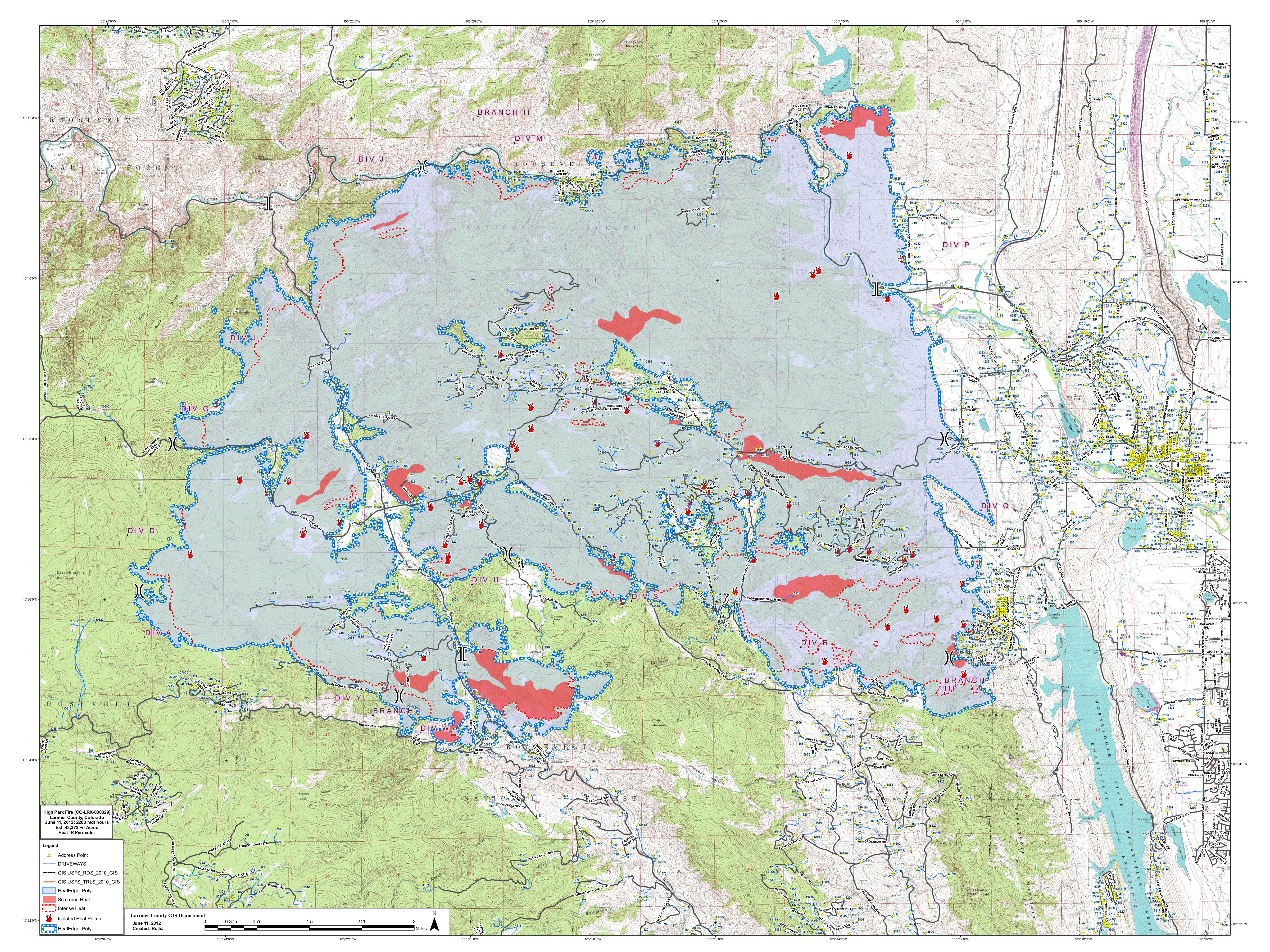 High Park Fire Map.Entities Hope To Coordinate Restoration Efforts For The High Park