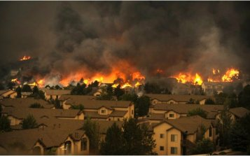 Waldo Canyon Fire. Photo credit The Pueblo chieftain.