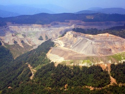 Mountain top removal for coal mining