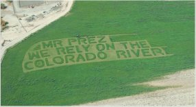 Hayfield message to President Obama 2011 via Protect the Flows