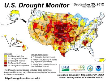 US Drought Monitor September 25, 2012