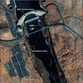 Glen Canyon Dam via Earth Observatory